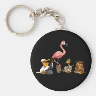 Jug Band O' Birds Keychain