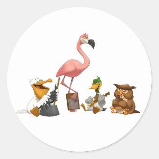 Jug Band O' Birds Stickers