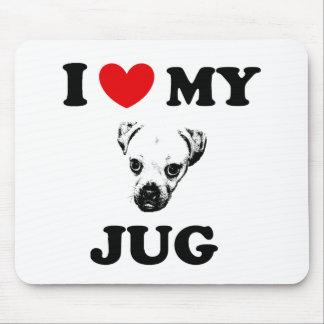 jug dog mouse mat