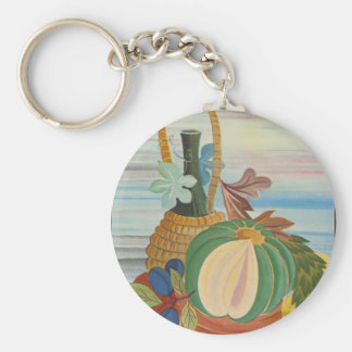 Jug of Wine and Squash Basic Round Button Key Ring