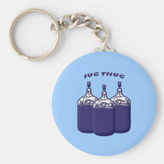 Jug Thug Basic Round Button Key Ring