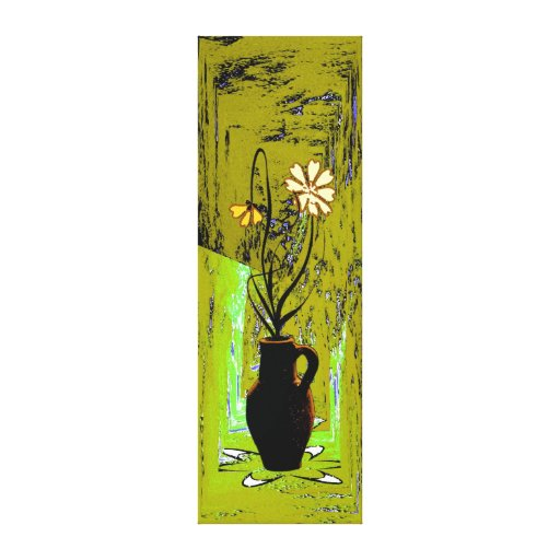 Jug with flowers canvas prints