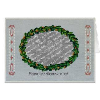 Jugendstil Christmas Card Photo Frame - Blue GC