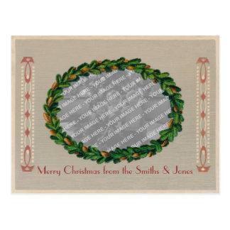 Jugendstil Christmas Card Photo Frame - Faded PC2 Post Card
