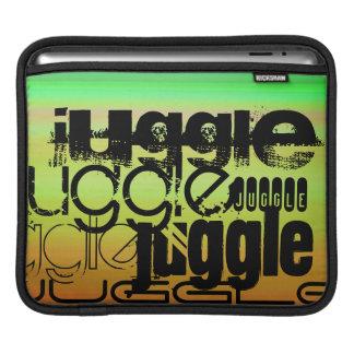 Juggle; Vibrant Green, Orange, & Yellow iPad Sleeve
