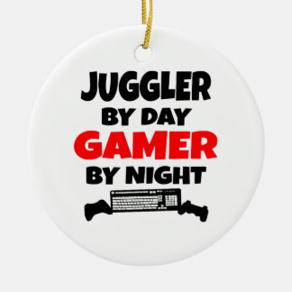 Juggler by Day Gamer by Night Christmas Ornament