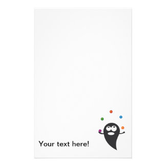 Juggler cartoon personalized stationery