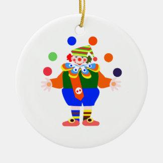 juggler clown christmas ornament