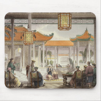 Jugglers Exhibiting in the Court of a Mandarin's P Mouse Pad