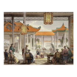 Jugglers Exhibiting in the Court of a Mandarin's P Postcard
