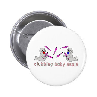 Juggling Baby Seals Button