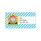Juggling Big Top Circus Clown; Blue Stripes Label