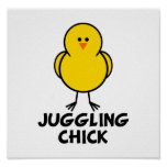 Juggling Chick Print