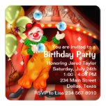 Juggling Circus Clown Birthday Party 13 Cm X 13 Cm Square Invitation Card