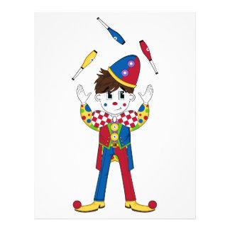 Juggling Circus Clown Flyer