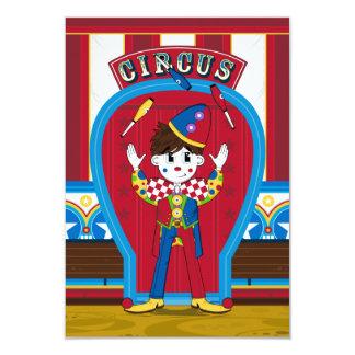 Juggling Circus Clown RSVP Card