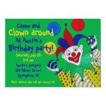 Juggling Clown Birthday 13 Cm X 18 Cm Invitation Card