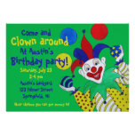 Juggling Clown Birthday Personalised Announcements