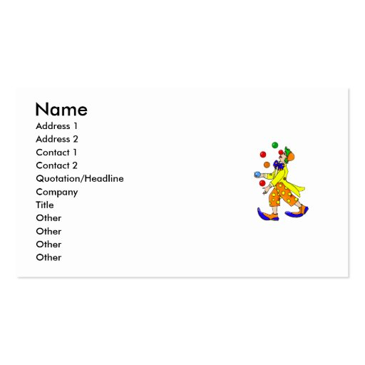 Collections of clown business cards juggling clown business cards colourmoves