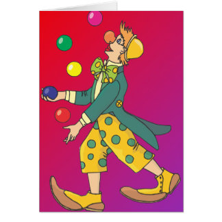 Juggling Clown Card