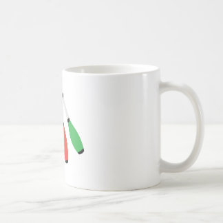 Juggling Clubs Basic White Mug