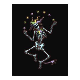 Juggling Jester Skeleton 21.5 Cm X 28 Cm Flyer