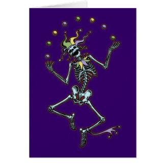Juggling Jester Skeleton Card