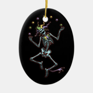 Juggling Jester Skeleton Christmas Ornament
