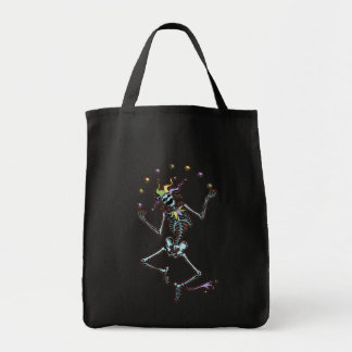 Juggling Jester Skeleton Tote Bag