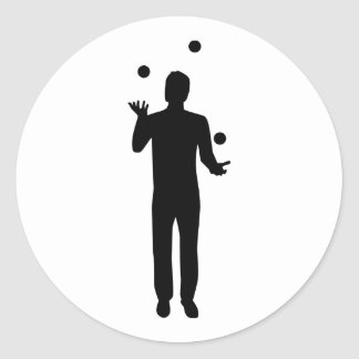 Juggling juggler round sticker