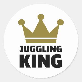 Juggling King Round Sticker