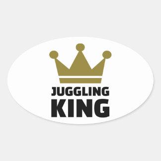 Juggling King Oval Sticker
