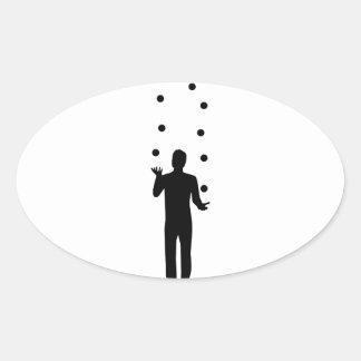 Juggling Oval Sticker