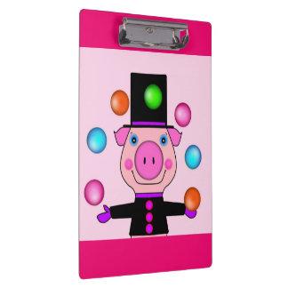 Juggling Pig Doodle Clipboard