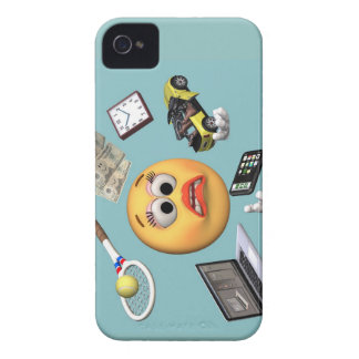 "Juggling ""Smiley"" Girl iPhone 4 Covers"