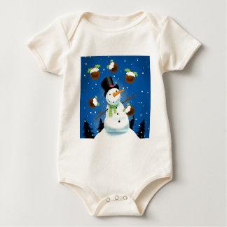 Juggling Snowman Baby Bodysuit