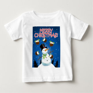 Juggling Snowman Baby T-Shirt