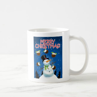 Juggling Snowman Coffee Mug