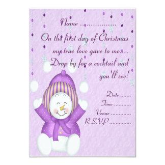 Juggling Snowman - Invitation