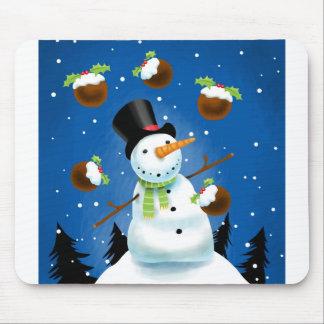 Juggling Snowman Mouse Mat
