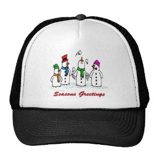 Juggling Snowmen Cap