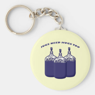 Jugs Need Hugs Too Basic Round Button Key Ring