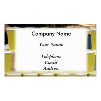 Juice and Drink Vendor Business Card Templates