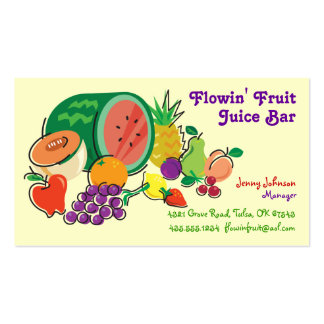 Juice Bar & Smoothies_Totally Fruity Pack Of Standard Business Cards
