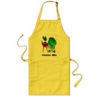 Juice Me changeable BeetBot and BroccoliBot Long Apron