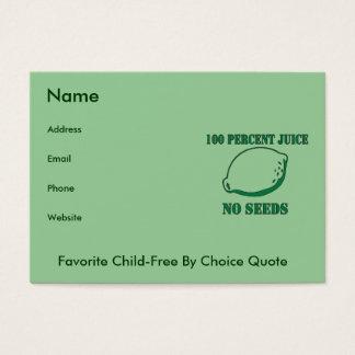 Juice No Seeds Business Card