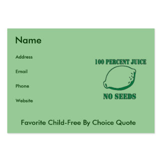Juice No Seeds Pack Of Chubby Business Cards