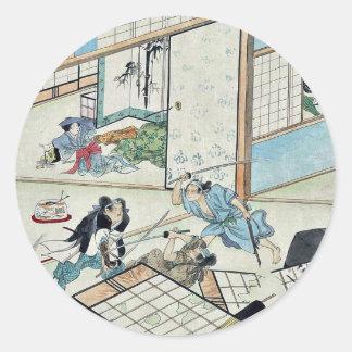 Juichidanme act eleven of the Chushingura Round Sticker