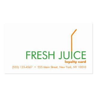 Juicing Customer Juice Bar Loyalty Reward Card Pack Of Standard Business Cards