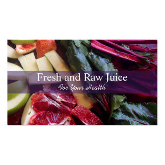 Juicing Nutritionist Food and Diet Health Business Card Templates